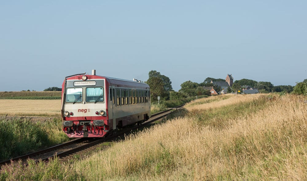 Dieser Triebwagen der neg soll zwischen dem 20. und 25. Februar kostenlos zwischen Uetersen und Tornesch pendeln