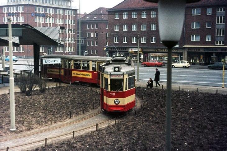Der U-Bahnhof Burgstraße war in den 60er und 70er Jahren die modernste Umsteigeanlage zwischen U- und Straßenbahn in ganz Hamburg.