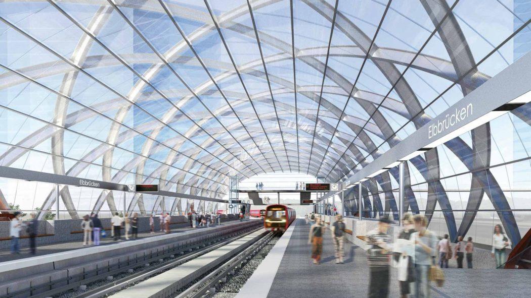 Visualisierung: U4-Endhaltestelle Elbbrücken