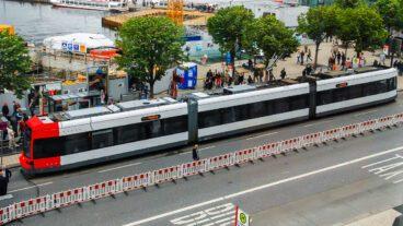 Bahn, Bremen, HVV, Hamburg, Jungfernstieg, Nahverkehr, Sommer, Stadtbahn, Straßenbahn, Tram, Tramway, Umweltverbund, Zug, ÖPNV, Öffentlicher Nahverkehr