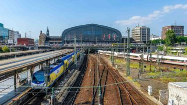 Blick auf die Südseite des Hamburger Hauptbahnhofs
