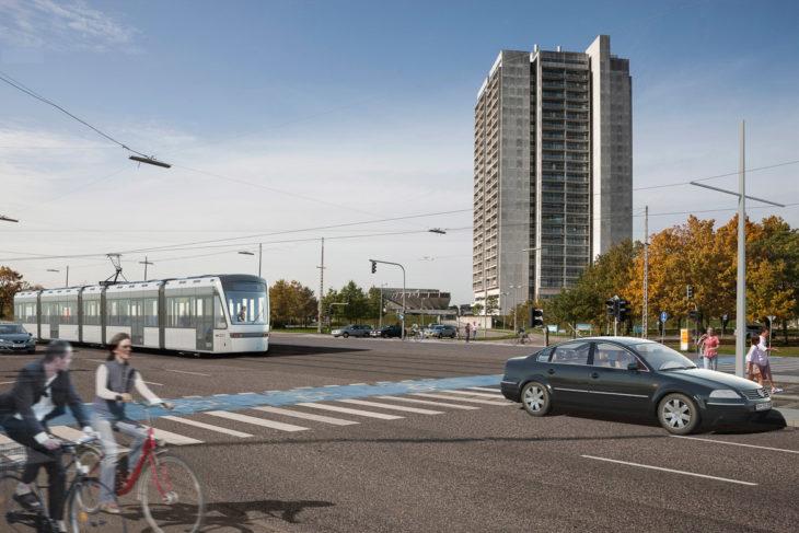 Visualisierung: So soll die Stadtbahn von Kopenhagen ab 2024 durch den Vorort Herlev fahren