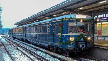 Historische Weihnachts-S-Bahn in Bergedorf