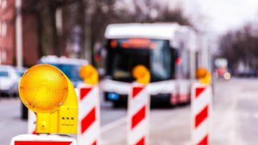 Bauarbeiten für Busbeschleunigung in Hamburg