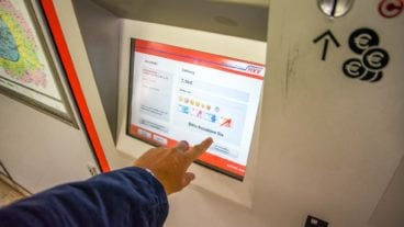 Fahrkartenautomat der Hamburger S-Bahn