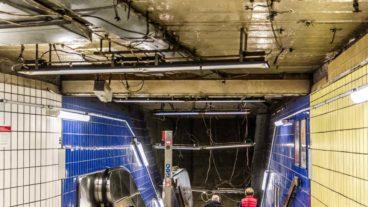 Bauarbeiten im S-Bahnhof Jungfernstieg in Hamburg