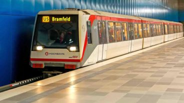 Fotomontage: U5 Richtung Bramfeld in Hamburg
