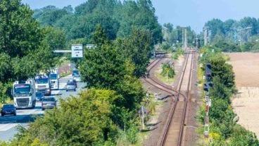 Bahnstrecke bei Puttgarden auf Fehmarn (Vogelfluglinie)