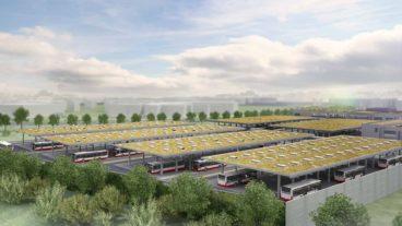 Visualisierung: Künftiger Busbetriebshof in der City Nord