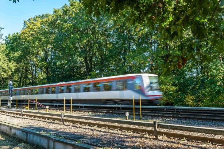 U-Bahn am geplanten Bahnhof Oldenfelde in Hamburg