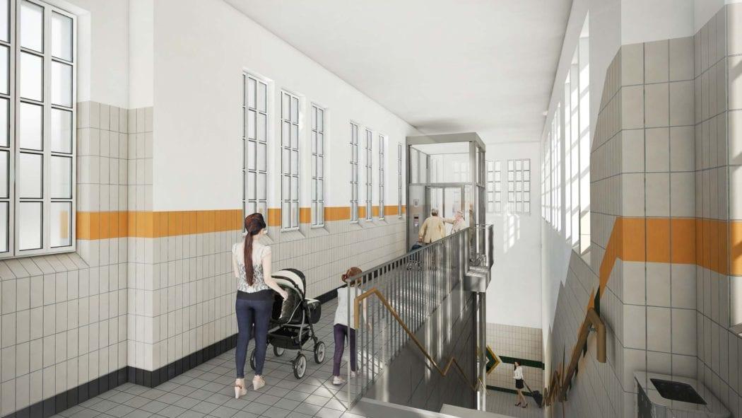 Visualisierung: U-Bahnhof Buchenkamp barrierefrei