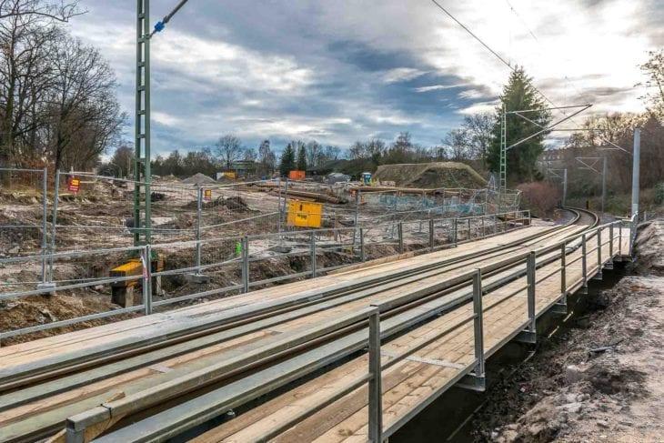 Bauarbeiten: Beseitigung des Bahhnübergangs Hammer Straße in Hamburg