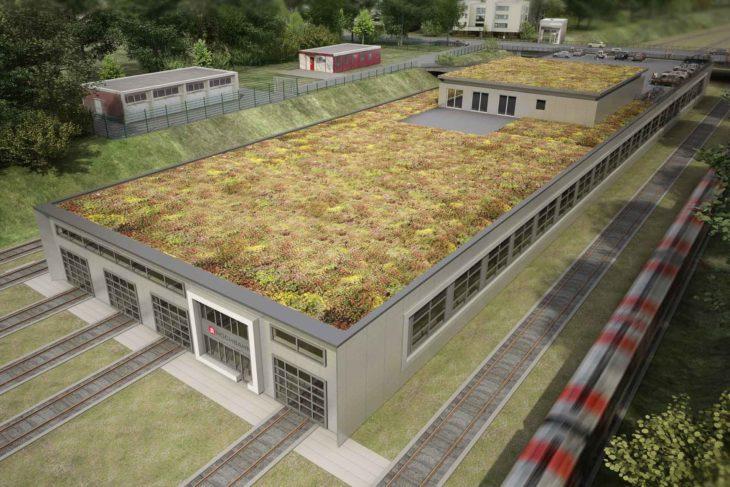 Visualisierung: Die geplante U-Bahn-Werkstatt in Billstedt