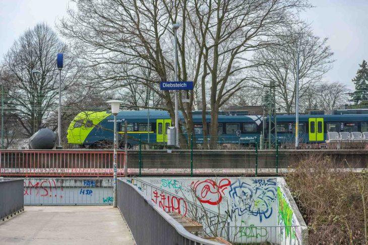 In Zukunft wird auch die Nordbahn am neuen Fernbahnhof am DIebsteich halten