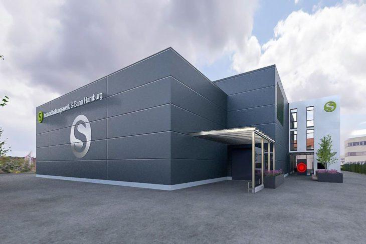 Visualisierung: S-Bahn-Instandhaltungswerk Stellingen