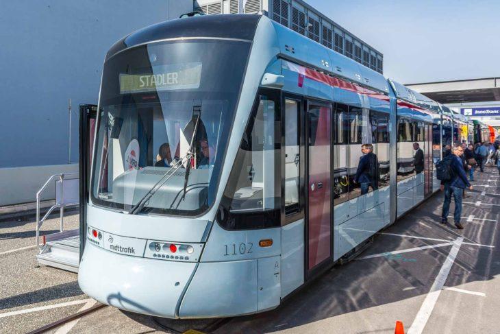 Straßenbahn-Fahrzeug für die dänische Stadt Aarhus