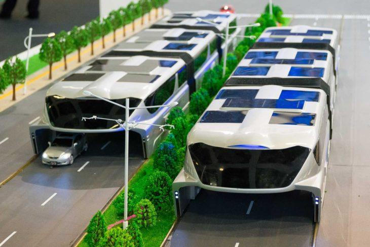 Modell für einen chinesischen Tunnel-Bus