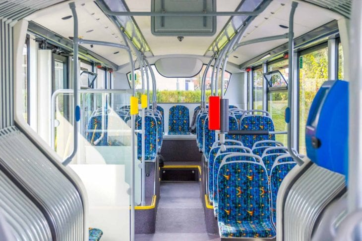Innenraum im Elektrobus von Sileo für Bremen