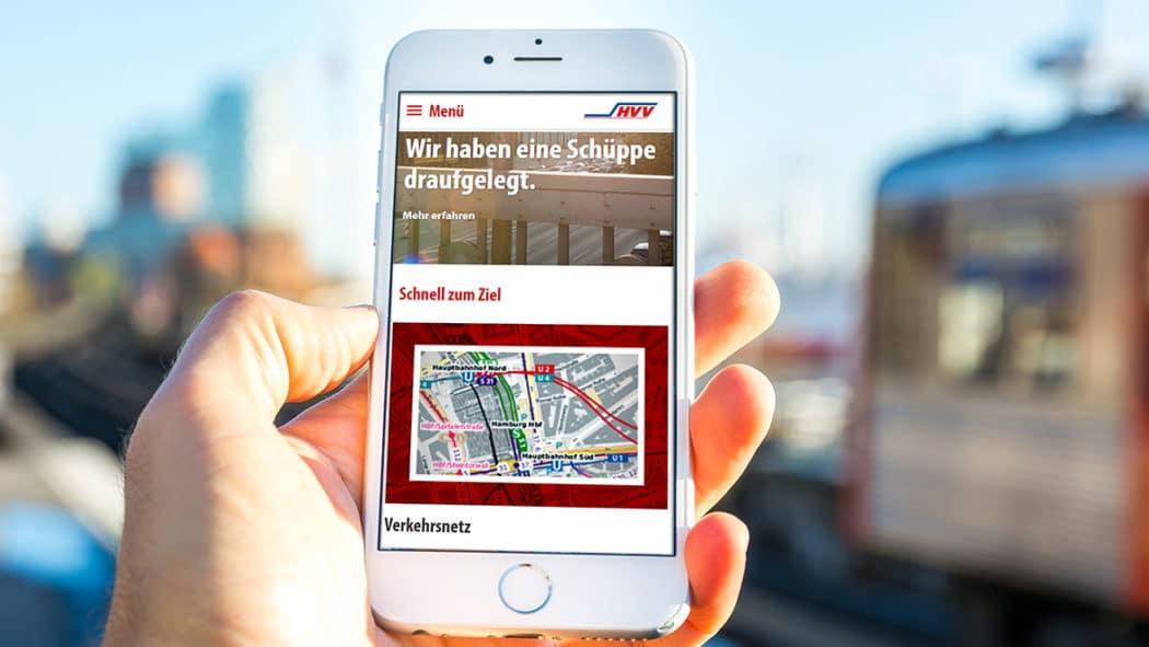 Die neue HVV-Website ist für den mobilen Einsatz auf Smartphones optimiert