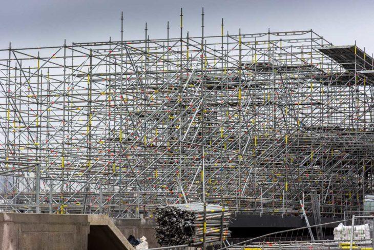 Baustelle für den neuen U-Bahnhof Elbbrücken in der HafenCity Hamburg