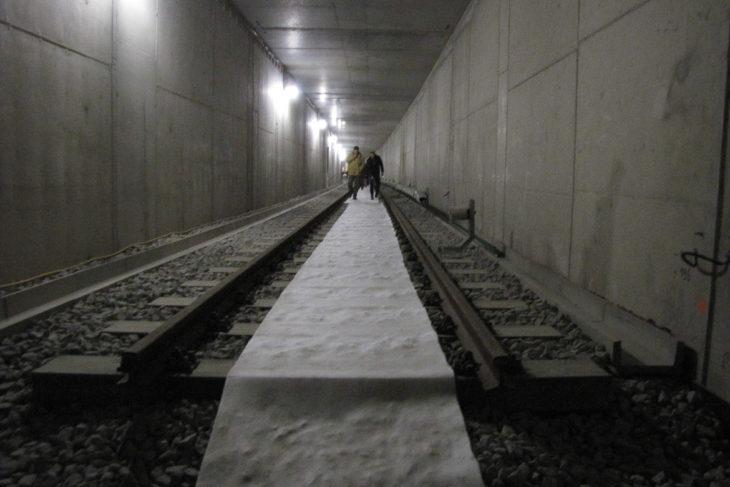 Noch enden die Gleise der U4 im Tunnel direkt hinter der Station HafenCity Universität