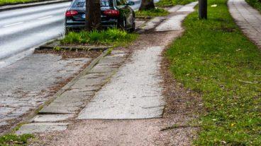 Holper-Piste: Die Radwege im Friedrich-Ebert-Damm sind in einem desolaten Zustand