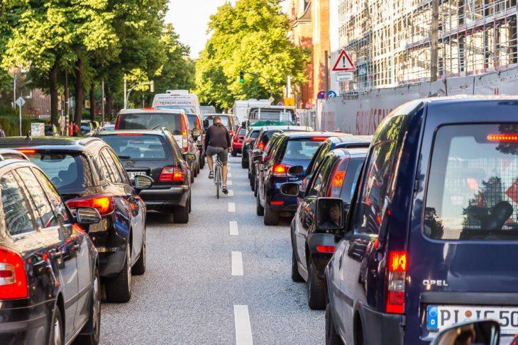 Kilometerlange Staus: das Fahrrad war während des G20-Gipfels oft die beste Alternative