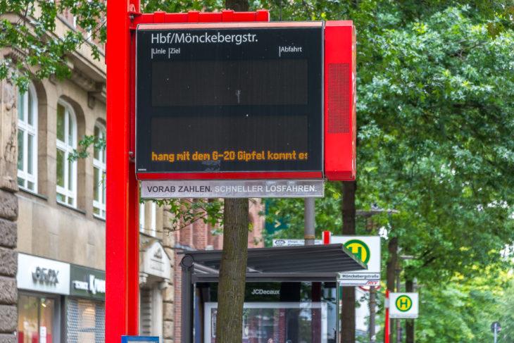 G20: Nichts geht mehr beim Busverkehr in der Hamburger Innenstadt