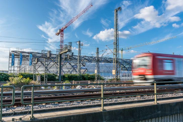 Der benachbarte U-Bahnhof Elbbrücken ist derzeit schon wesentlich weiter
