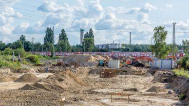 Bauarbeiten für neues S-Bahn-Instandhaltungswerk in Hamburg-Stellingen