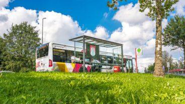 Billstraße, Bus, HVV, Hamburg, Hochbahn, Nahverkehr, Natur, Sommer, Umweltverbund, ÖPNV, Öffentlicher Nahverkehr