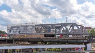 Die neue Bahn-Brücke am Berliner Tor soll die bisherigen Brücken ersetzen