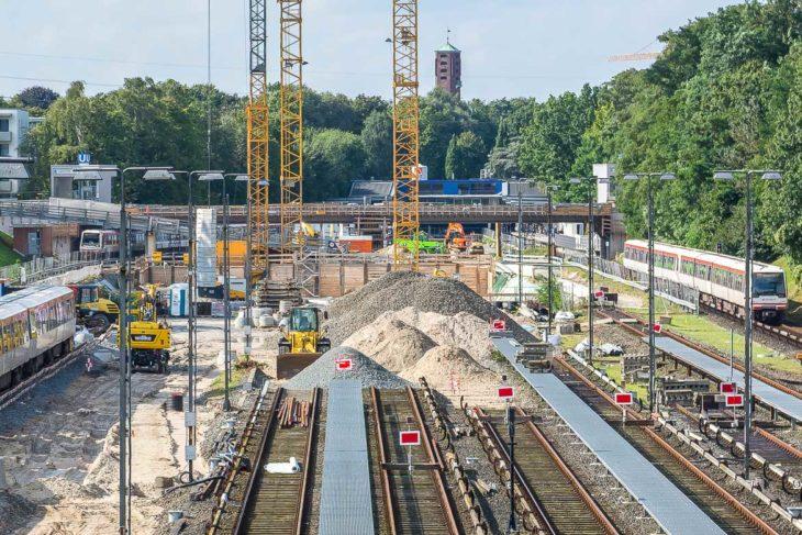 Die neue viergleisige Werkstatthalle wird im Bereich der bisherigen Abstellanlage Billstedt gebaut