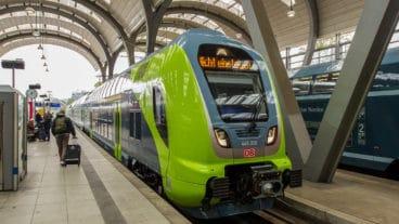 Präsentation des ersten neuen Elektro-Doppelstock-Triebzugs vom Typ 445 am 13.9.2017 in Kiel