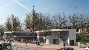 Hochbahn, b+r, dreidesign, fahradstellplätze, fotos, hauptbahnhof hamburg, p+r