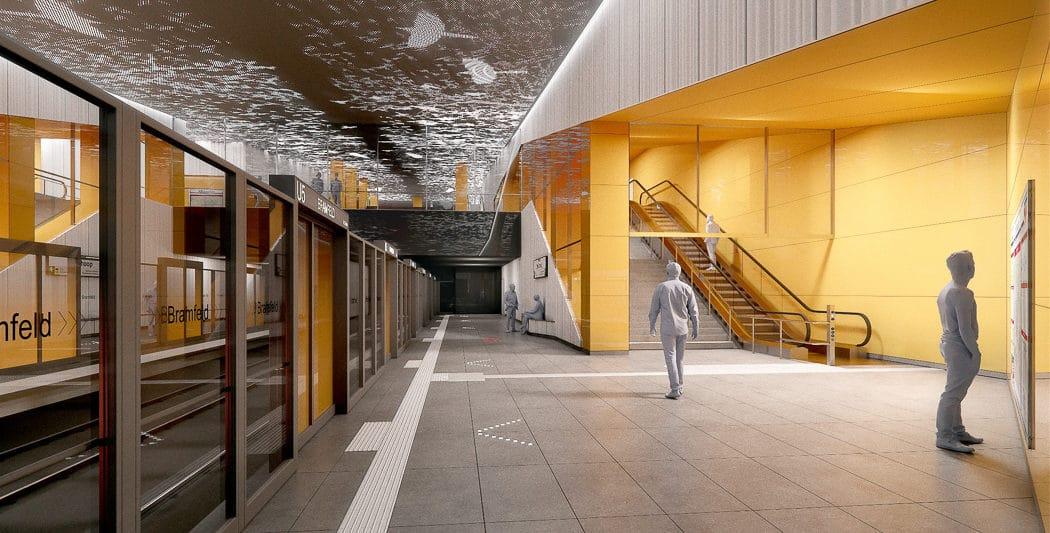 Visualisierung: So soll der neue U-Bahnhof in Steilshoop aussehen