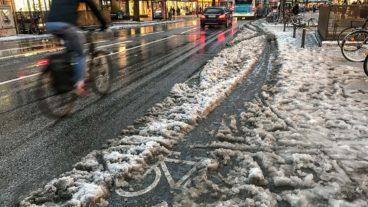 Immer wieder Aufreger: Mangelhafter Winterdienst auf Radwegen in Hamburg