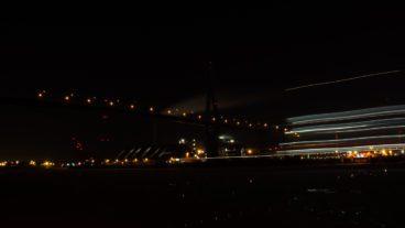 Bewegungsunschärfe, Elbe, Hafen, Hamburg, Köhlbrand, Köhlbrandbrücke, Langzeitbelichtung, Nachfotografie, Nacht, Nachtfotografie, Nachtperspektive