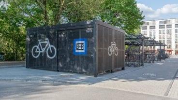 Die neue Bike-and-Ride-Station an der Hoheluftbrücke