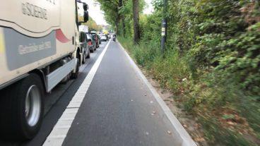 Edmund-Siemers-Allee, Fahrrad, Fahrradweg, Hamburg, Radfahrer, Radfahrstreifen, Radspur, Radverkehr, Radweg