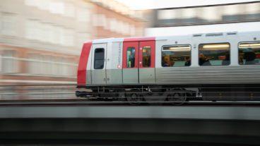 Bewegungsunschärfe, DT5, HVV, Hamburg, Hochbahn, Rödingsmarkt, U-Bahn, U3, Viadukt