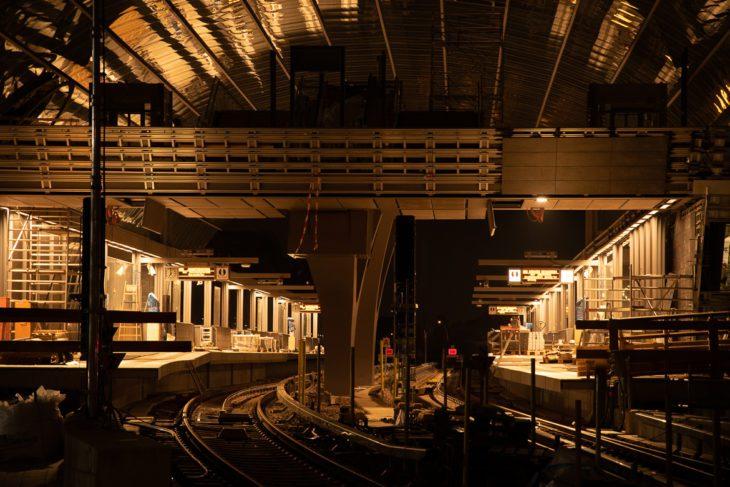 Bahnhof, Elbbrücken, HVV, Hafen, Hafencity, Hamburg, Hochbahn, Nacht, Nachtfotografie, U4