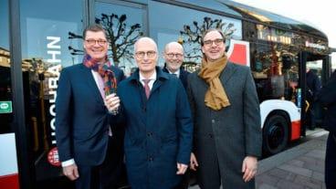 Bus, E-Bus, Elektrobus, Elektromobilität, HVV, Hamburg, Henrik Falk, Hochbahn, Michael Westhagemann, Peter Tschentscher, eCitaro