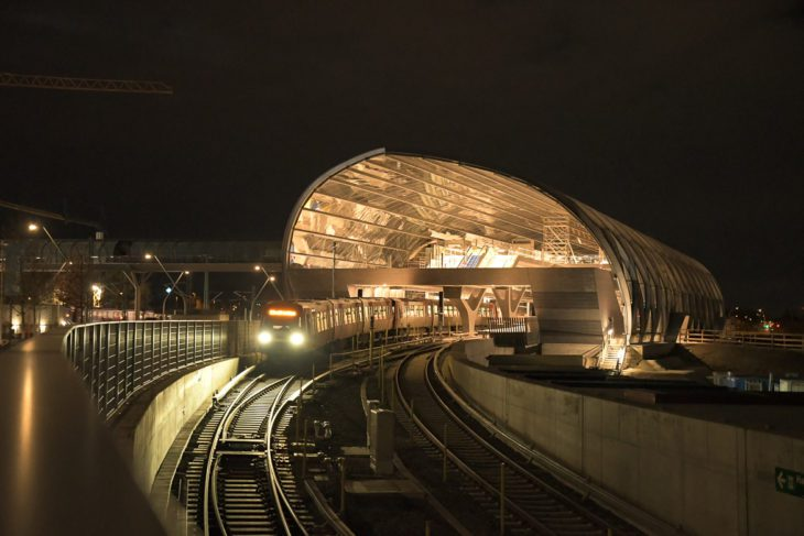 DT5, Elbbrücken, Elbe, HVV, Hafencity, Hamburg, Hochbahn, Nacht, Nachtfotografie, Nachtperspektive, U-Bahn, U4