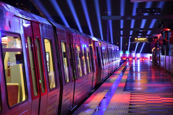 Bahnhof, DT5, Elbbrücken, HVV, Hafencity, Hamburg, Hochbahn, Nacht, Nachtfotografie, Nachtperspektive, U-Bahn, U4