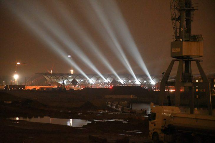 Elbbrücken, HVV, Hafencity, Hamburg, Hochbahn, Nacht, Nachtfotografie, Nachtperspektive, U-Bahn, U4