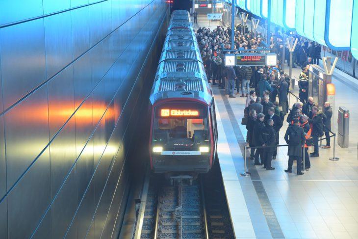 Bahnhof, DT5, HVV, Hafencity, Hafencity Universität, Hamburg, Hochbahn, Tunnel, U-Bahn, U4