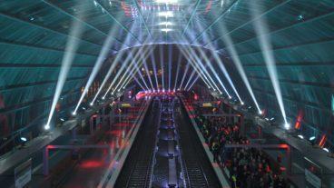 Bahnhof, Elbbrücken, HVV, Hafencity, Hamburg, Hochbahn, Nacht, Nachtfotografie, Nachtperspektive, U-Bahn, U4
