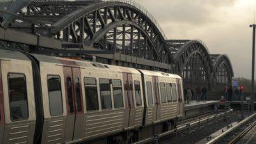 Baackenhafen, Bahnhof, DT5, Elbbrücken, HVV, Hafen, Hafencity, Hamburg, Hochbahn, U-Bahn, U4, Winter