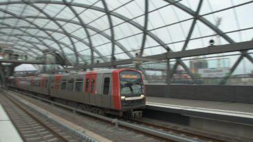 Baackenhafen, Bahnhof, Bewegungsunschärfe, DT5, Elbbrücken, HVV, Hafen, Hafencity, Hamburg, Hochbahn, U-Bahn, U4, Winter
